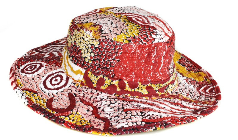 Better World Aboriginal Art Cotton Bucket Hat- Family   Country  Size   Small  3e373da343a