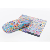 Warlukurlangu Aboriginal Art Glasses Case/Lens Cloth - Mina Mina Dreaming