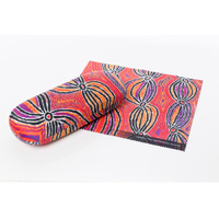 Warlukurlangu Aboriginal Art Glasses Case/Lens Cloth - Dogwood Tree Bean