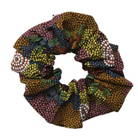 Bulurru Aboriginal design Hair Scrunchy - Bush Fruit Dreaming