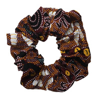 Bulurru Aboriginal design Hair Scrunchy - Bush Tucker