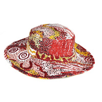 Better World Aboriginal Art Cotton Bucket Hat- Family & Country