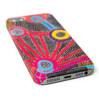 Warlukurlangu Aboriginal Art Mobile Phone Case - Water Dreaming