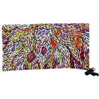 Utopia Aboriginal Art Microfibre Sunglasses Pouch - Wild Flowers Yellow