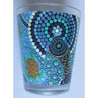 Bunabiri Shot Glass - Blue Water Turtle