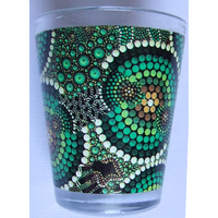 Bunabiri Shot Glass - Green Hands