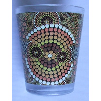 Bunabiri Shot Glass - Ochre Dots