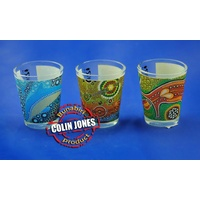 Bunabiri Aboriginal Shot Glass - Set (3)