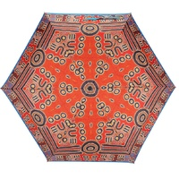 Outstations Aboriginal Art Folding Umbrella - Body Art