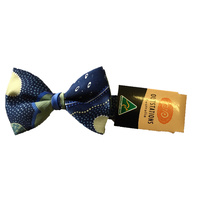 Outstations Aboriginal Art Polyester Bowtie - Norman Cox (Blue)