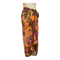 Balarinji Aboriginal Art Polyester Chiffon Sarong - Billabong Camp