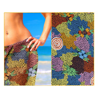 Bulurru Sarong - Bush Fruit Dreaming (Cotton)
