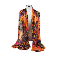 Balarinji Aboriginal Art Polyester Chiffon Scarf - Billabong Camp