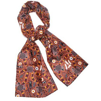 Buluru Cotton Chiffon Scarf - Bush Tucker
