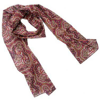 Bulurru Aboriginal Dot Art Cotton Chiffon Scarf - On Walkabout (Wine)