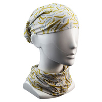 Jijaka Aboriginal Art Multi Headscarf - Boomerangs (Grey)