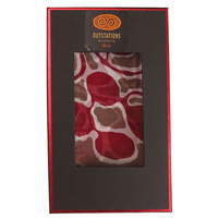 Outstations Aboriginal Art [Giftboxed] Silk Chiffon Scarf - Bush Potato (Salmon)