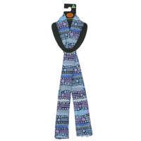 Outstations Aboriginal Art Polyester Chiffon Scarf - Patchwork