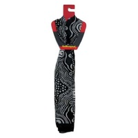 Oz Aboriginal Silk Scarf - Rosie Baker (Black)