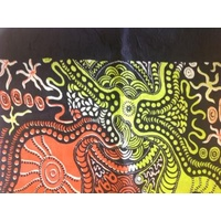 Oz Aboriginal Silk Scarf - Trish Singer [Lime]