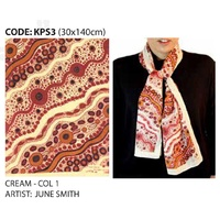 Scorched Earth Aboriginal Art Polyester Chiffon Scarf (KPS3)