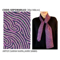 Scorched Earth Aboriginal Art Polyester Chiffon Scarf - Warlu 2