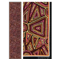 Scorched Earth Aboriginal Art Polyester Chiffon Scarf - Warlu 5
