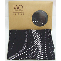 Warrina Satin Silk Scarf  (SQ) - Sandhills (Black)
