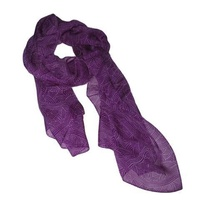 Warrina Silk Chiffon Scarf  - Untitled [Purple] by Nambooka