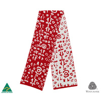 Woollen Scarf - Yuendumu Door Red