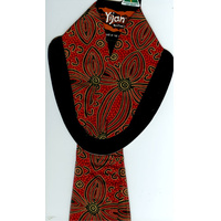 Yijan Aboriginal Art Polyester Chiffon Scarf - Women's Ceremony on Yuelamu