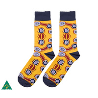 Warlukurlangu Men's Cotton Socks - Amelia Brown