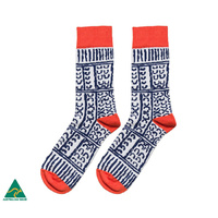 Warlukurlangu Men's Cotton Socks - Paddy Stewart