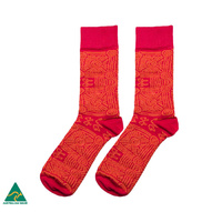 Warlukurlangu Men's Socks - Zenaida Gallagher