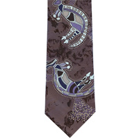 Bulurru Silk Tie - Warrior Dreaming