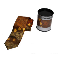 Better World Aboriginal Art Digital Print Silk Tie - Sandhills