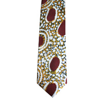 Better World Aboriginal Art Silk Tie - Eagle Dreaming