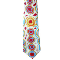 Better World Aboriginal Art Silk Tie - Marsupial Mouse Dreaming