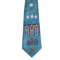 Better World Aboriginal Art Silk Tie - Milky Way