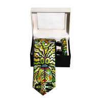 Better World Aboriginal Art 3pce Digital Silk Tie Set - Molyewongk