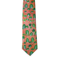 Better World Aboriginal Art Silk Tie - View of Country