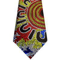 Hogarth Arts Polyester Silk Tie - Waterholes