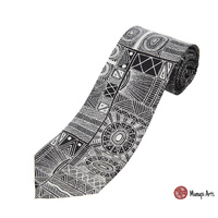 Munupi Arts Giftboxed Aboriginal Silk Tie - Jilamara Design