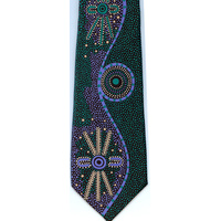 Scorched Earth Polyester Tie - B1149 (Green)