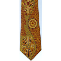 Scorched Earth Polyester Tie - B1149 (Gold)