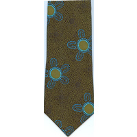Scorched Earth Polyester Tie (B1152) Green