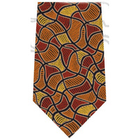 Scorched Earth Polyester Tie (T6006) - Ochre