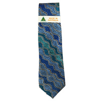 Scorched Earth Polyester Tie - WARLU1 (Blue)