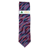 Scorched Earth Aboriginal Art Polyester Tie - WARLU2 (Pink)