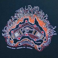 Hunting Ground (Black) - Aboriginal Design T-Shirt
